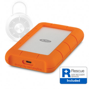 2 TB LaCie Rugged Secure USB-C Harddisk