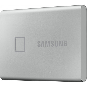 1TB Samsung T7 Touch Portable SSD, silber