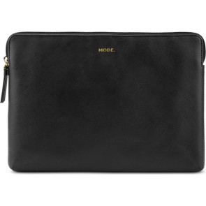 "dbramante Sleeve Paris für Macbook Pro 15""/16"", Night Black, echt Leder"