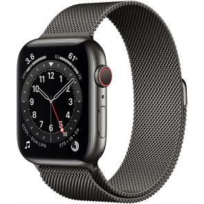 Apple Watch Series 6 GPS+Cell, 44mm Edelstahl Graphit, Loop Milanaise Grap