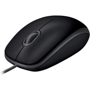 Logitech B110 Silent Corded Maus USB, schwarz