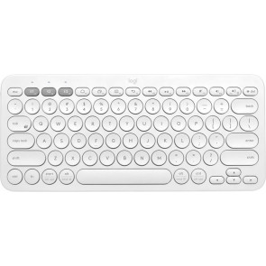 Logitech K380, Multi-Device Bluetooth Tastatur, Weiss