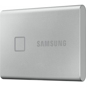 Samsung 500GB T7 Touch Portable SSD, silber