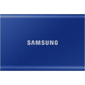 500GB Samsung T7 Portable SSD, Indigo Blau