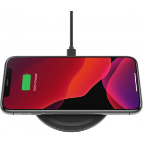 Belkin 15W Qi Wireless Charging Pad inkl. USB-C Kabel mit Netzteil, schwarz
