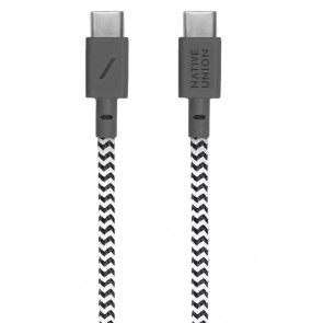Belt USB-C auf USB-C-Kabel 2.4m, zebra, Native Union