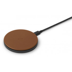 DROP Wireless Charger, Leder, für iPhone, braun, Native Union
