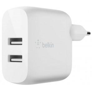 Belkin Dual USB-A Ladegerät, 24W, weiss