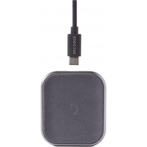 FastPad mini, eleganter Leder Wireless Charger, Leder, Braun, Decoded