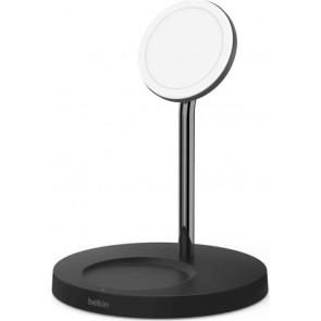 Belkin Wireless Boost Charge Pro, 2-in-1-Ladegerät mit MagSafe, schwarz
