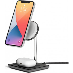 Snap 2-in1 Wireless Charger, Schwarz, Native Union