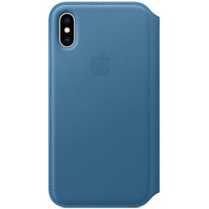"Leder Folio, iPhone XS (5.8""), cape cod blau, Apple"