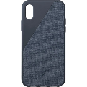 "Native Union Clic Canvas Hülle für iPhone XS Max (6.5""), navy"