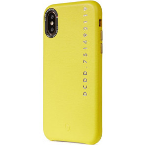 """Leder Back Cover, Pop Color, iPhone X/XS (5.8""""), gelb, Decoded"""