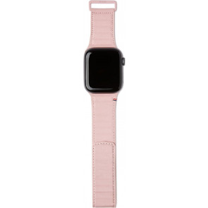 Lederarmband Magnetic für Apple Watch 38/40 mm, rosa, Decoded