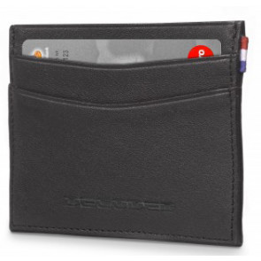 Leder Kreditkarten Halter, schwarz, Decoded