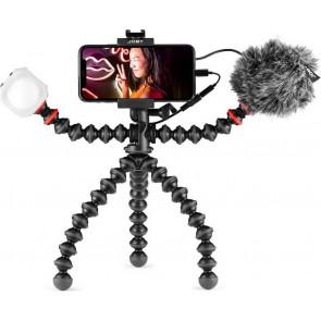 Joby GorillaPod Vlogging-Kit, Stativ, Mik, Licht, für iPhone, schwarz