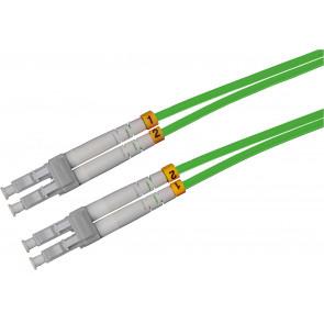 LWL Glasfaser Kabel, 2m, LC - LC, 50/125µ Duplex, OM5, grün