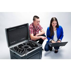 """atecase Transportbehälter für 32 iPad 10.2"""" mit Hülle bis 200x25x260mm"""