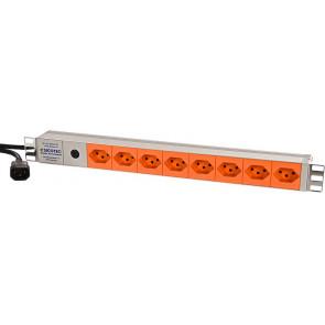 8x T13 Steckdosenleiste längs ohne Schalter, 3m, Apparatestecker